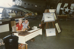 Dover AFB Museum Art Booth 1991