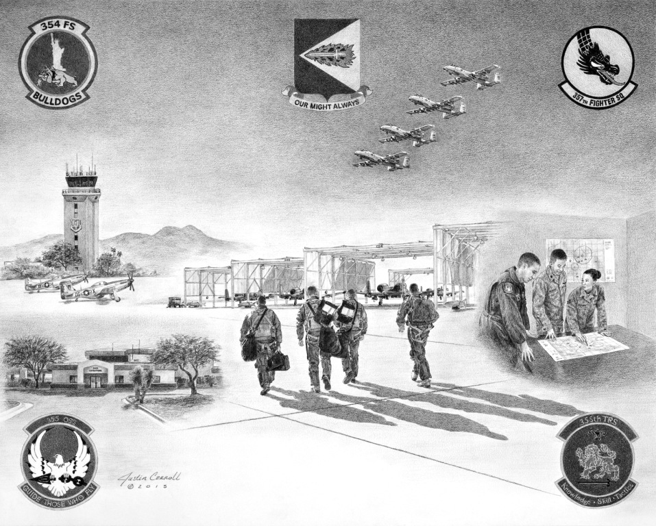 355th Operations Group Litho