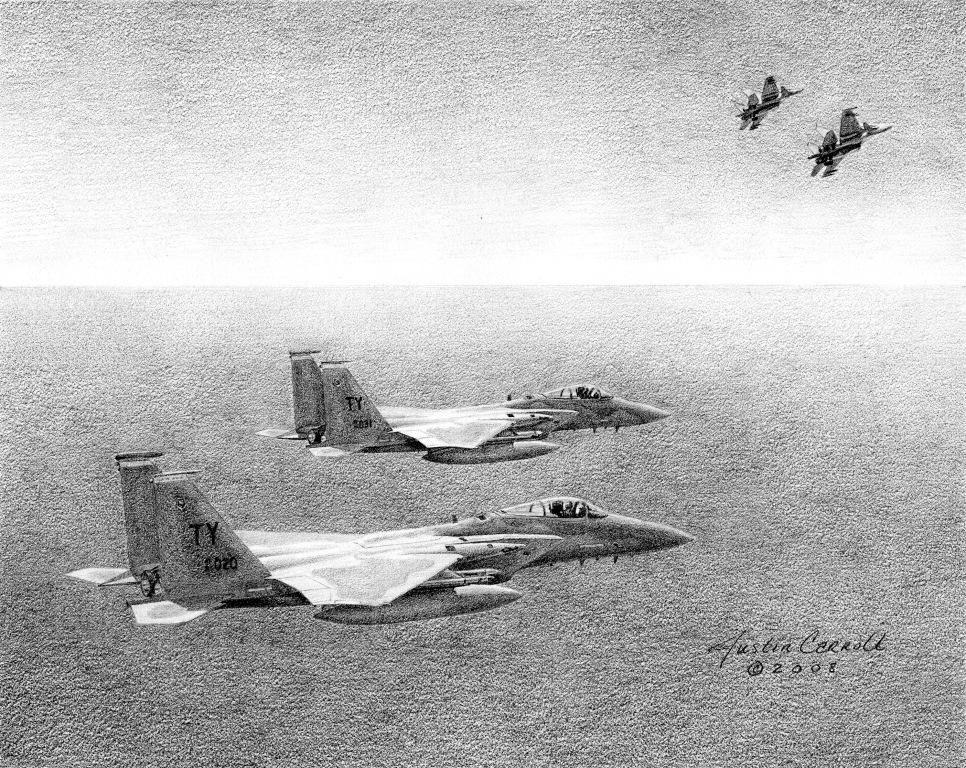 F-15C vs Flankers