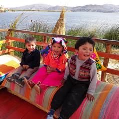 Kids in Lake Titicaca @ Puno, Peru