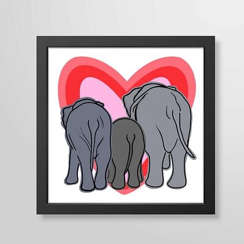 Elephant Big Heart - Art Print
