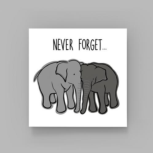 Elephants Never Forget...
