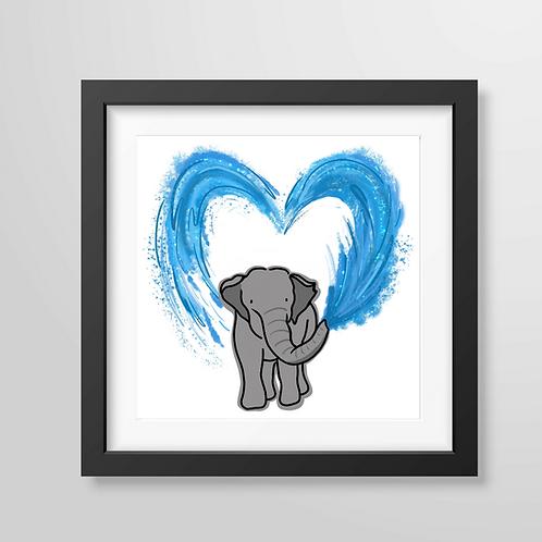 Elephant Water - Art Print