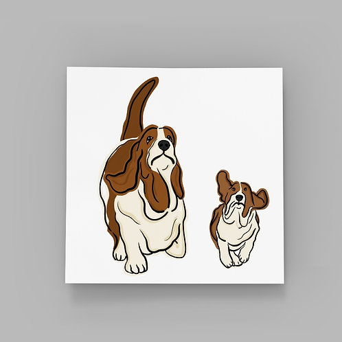 Basset Hounds - Father and Son