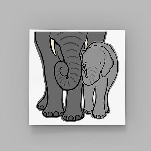 Elephant Cuddle - Happy Father's Day