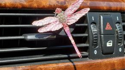 DRAGONFLY CAR/TRUCK BLING CLIP