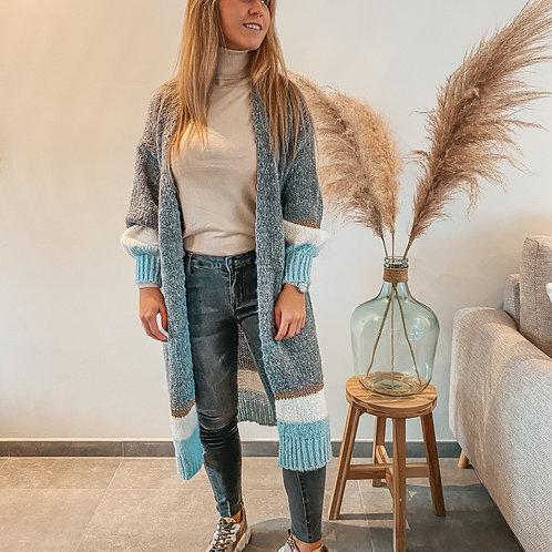 Long sweater gilet grey