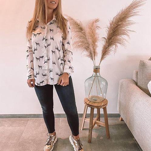 Zebra blouse white