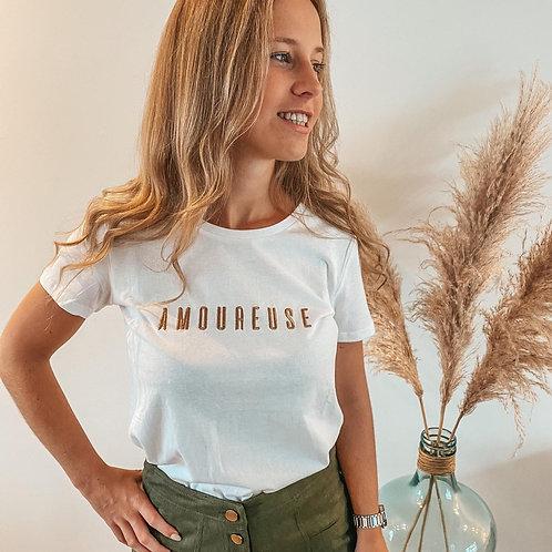 T-shirt Amoureuse gold