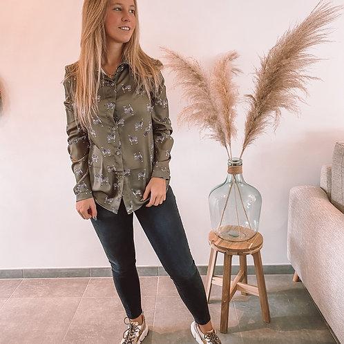 Zebra blouse kaki
