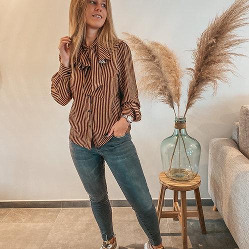 Camel streepjes blouse