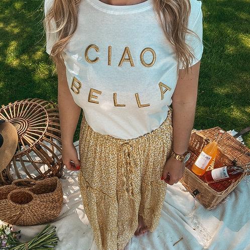 Ciao Bella golden t-shirt
