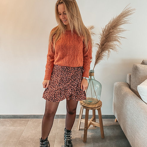 Tiger skirt Pink