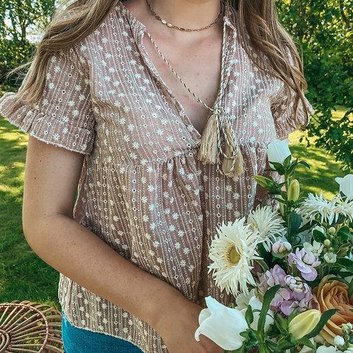Boho rose blouse