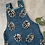 Thumbnail: Blue Pinecones Dungarees 12-18m (premade)