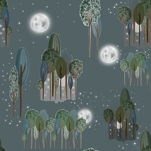 Moonlight forest.tiff