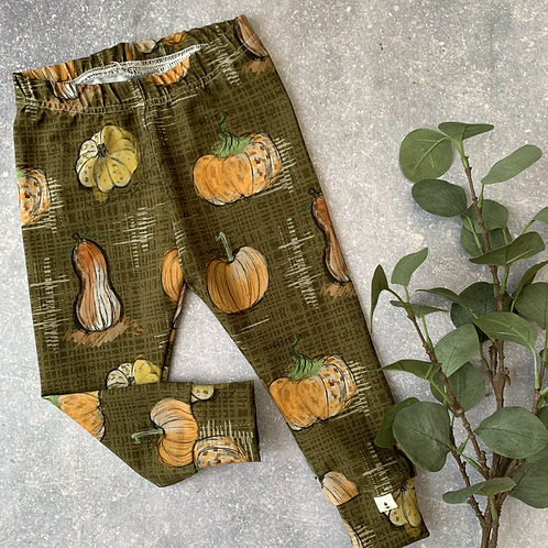 Pumpkins Leggings 3-4y (premade)