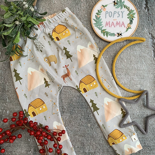 Festive Forest Harem Leggings 2-3y