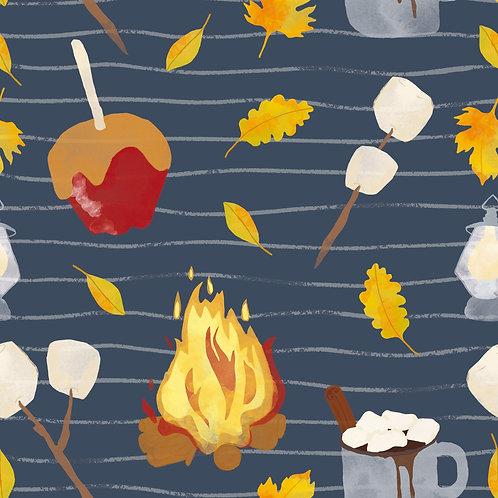 Fireside comfort (blue) - Bibs, Teethers, Hairbands, Hats & Snood