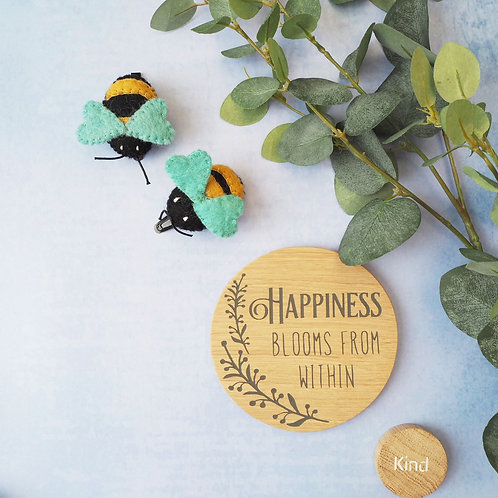 Hair clips - Bees and Ladybirds