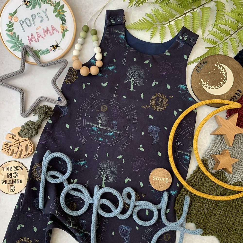 Popsy and Mama footed romper