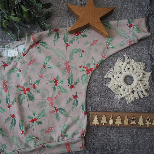 Mistletoe Kisses Slouch Jumper  9-12m