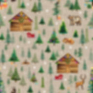 Xmas forest tile - taupe 3 (with stars).