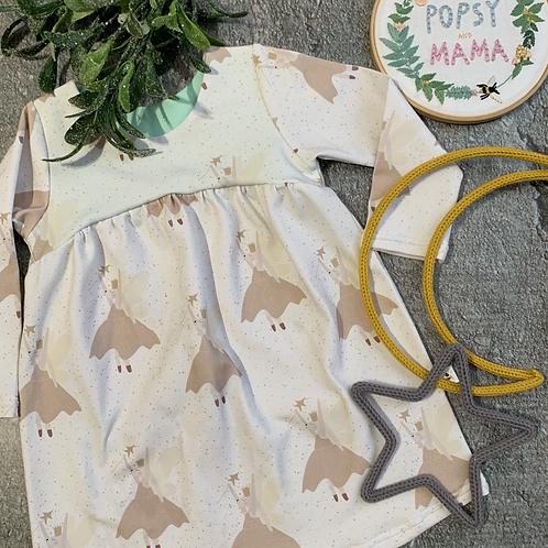 Magical Bunnies Gathered Dress Long Sleeves 18-24m