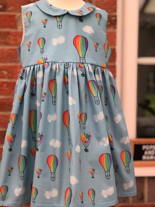 Poppy dress in Rainbow Balloons (1 - 8 years)