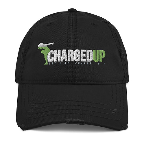Charged Up Distressed Dad Hat