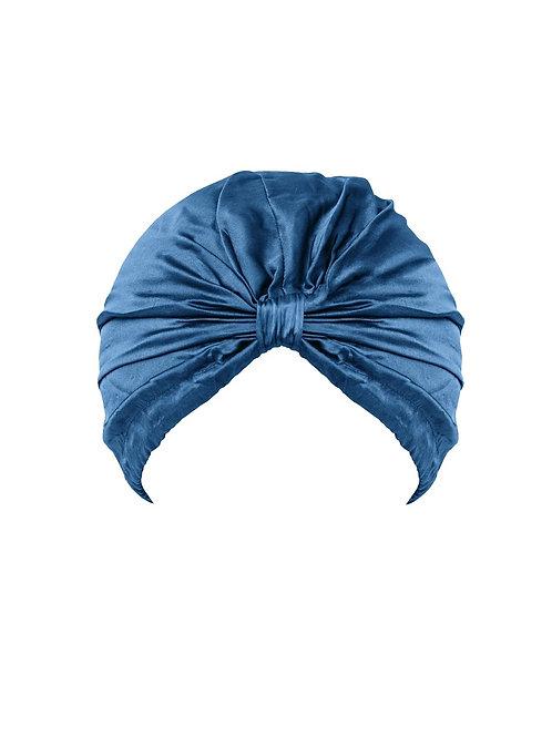 Turbante seda Umma Azul