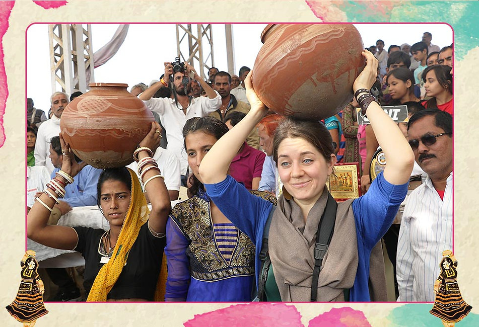 A Matka is a large earthen pot used traditionally in villages of India to ferry water from the village well or water source. An activity done primarilty by the women folk, has now acquired a sporty appearance with the Matka Race at the Pushkar Mela. Women particpants are required to run a distance with their Matkas filled with water with minimum spillage. 