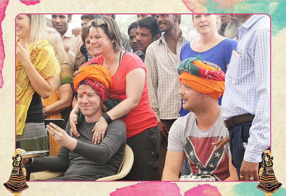 """The princely state of Rajasthan is known the world over for its colorful headgear known locally as """"Pugadi"""". The putting together of this """"Pugadi"""" or Turban is an art form of sorts that requires some intricate maneuvering of the hands around the recipients head with the lengthy roll of colorful cloth """