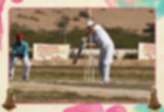 Cricket is a bat-and-ball game played between two teams of eleven players on a cricket field, at the centre of which is a rectangular 22-yard-long pitch with a wicket, a set of three wooden stumps sited at each end. One team, designated the batting team, attempts to score as many runs as possible, whilst their opponents bowl and field. Each phase of play is called an innings. After either ten batsmen have been dismissed or a set number of overs have been completed, the innings ends and the two teams then swap roles. The winning team is the one that scores the most runs, including any extras gained, during their period batting.