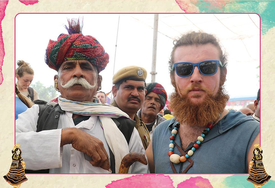 The Moustache Competition is one of the most popular activites at the Pushkar Mela. At this war of moustaches, the men folk literally go great lenghts to show case their fine whiskers.
