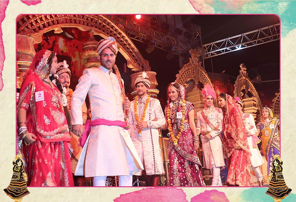 The Bride & Groom contest not only gives you an opportunity to dress up in traditional Indian wedding attire but also tests you and your partners ramp skills at the Pushkar Fair stage