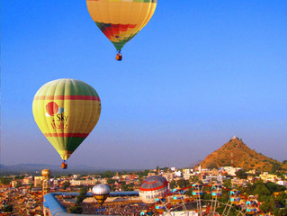 A Memorable Hot Air Balloon Rides at Pushkar Mela 2019