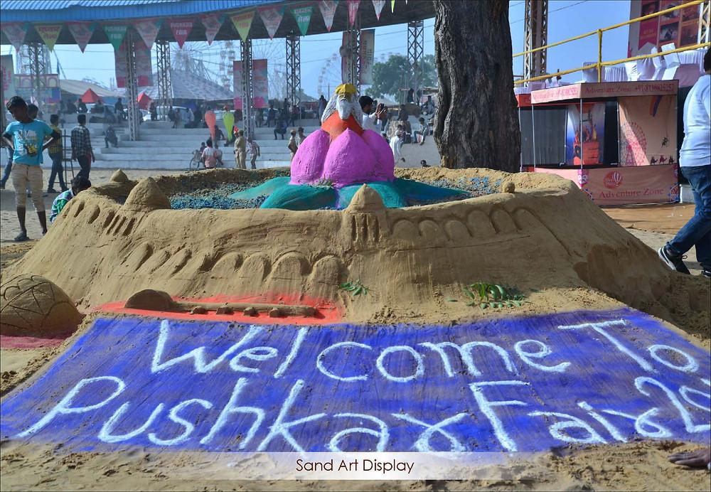 Sand Art Display Pushkar Mela