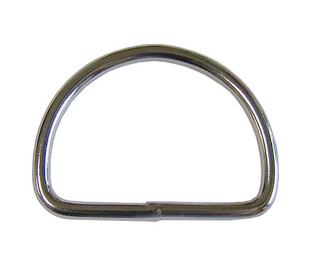 "Welded Steel D-Ring Nickel Plate (1-1/2"") 3.5mm Starting At:"