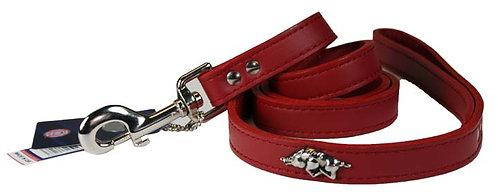 Arkansas Razorback Leather Leash (4')