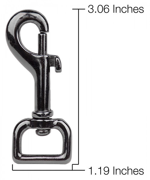 "Square Eye Bolt Snap Black Nickel Plate (3/4"") Starting At:"