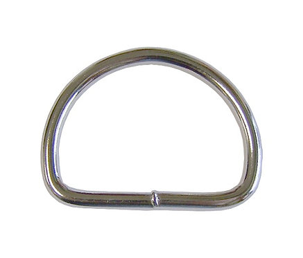 "Welded Steel D-Ring Nickel Plate (1-1/2"") 4.5mm Starting At:"