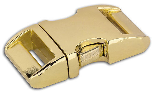"Aluminum Side Release Buckle Brass Plate (5/8"") Starting At:"