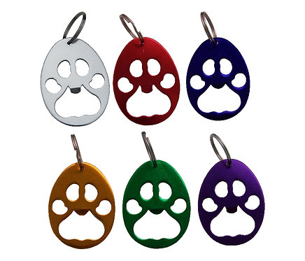 Aluminum Paw Print Key Keepers