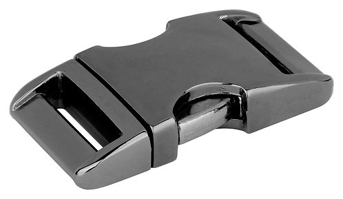 "Black Nickel Plate Side Release Buckle (3/4"")"