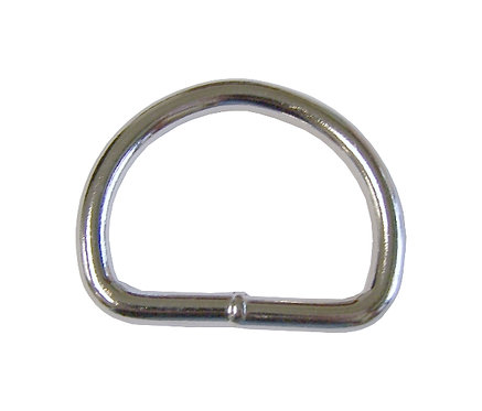 """Welded Steel D-Ring Nickel Plate (1-1/2"""") 5.7mm Starting At:"""