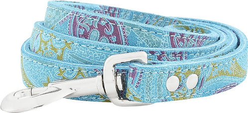 Paisley Suede Leather Leash (4')