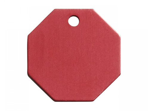 "Large Red Engravable Stop Sign Tag (1-1/16"" WIDTH X 1-1/16"" HEIGHT)"