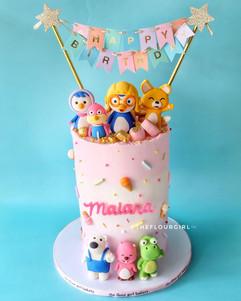 Pororo and friends cake