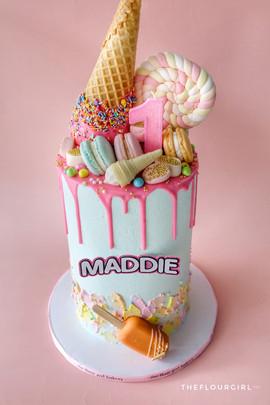 LOL Decorated Upside Down Ice Cream Cake
